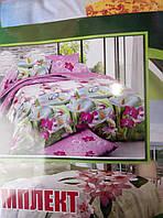 Качественный хлопковый постельный комплект полуторка