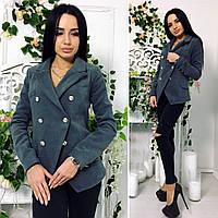 Пиджак женский, ткань кашемир на подкладке, цвет серый , супер качество фото реал нн1 №501