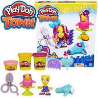 Пластилин Hasbro Play Doh Плей Дох Парикмахер Снипс и попугай B5973