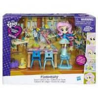 Кукла девушки эквестрии Флатершай Мини Игровой набор с аксессуарами с мини-куклой май литл пони My Little Pony Fluttershy Minis Equestria Girls