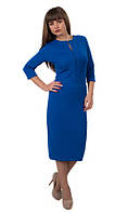 Женское платье Мексика  деловое, элегантное, женственное  размер  44, 46, 48, 50, 52, 54, 56 электрик