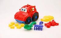 Сортер Автошка №2 машина з вкладишами, лопата, граблі, дві великі пасочки COLOR plast(Ч)