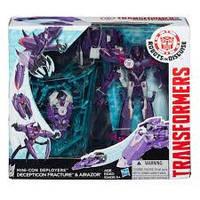 """Игрушка робот трансформер РИД Миникон Деплойер """"Decepticon Fracture and Airazor"""" Transformers B1977, B0765"""