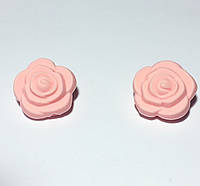 Розочка маленькая, бусина из силикона, роза кварц