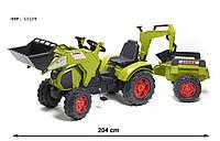 Трактор детский на педалях с двумя Ковшами 3-7 лет Claas Axos Falk 1010Y