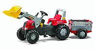 Детский Трактор Педальный с Прицепом и Ковшом Junior Rolly Toys 811397
