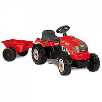 Трактор детский на педалях с прицепом GM Bull Smoby 33045