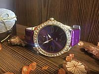 Изысканные женские часы с лакированным ремешком (Фиолетовые)