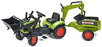 Трактор детский на педалях с Прицепом и двумя Ковшами Claas Arion Falk 2040N