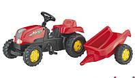 Детский Трактор педальный с прицепом Kid Rolly Toys 12121