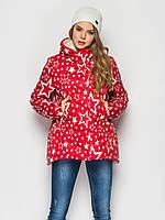 Женская демисезонная молодежная короткая куртка со звездами 90224/1