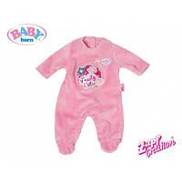 Одежда Baby Born Zapf Creation Комбинезон велюровый для куклы пупса Беби Борн