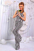 Комбинезон женский брючный, Ткань: костюмка, принт - полоска. Длина изделия - 160 см, 2 цвета апро № 329