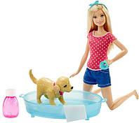 """Набор Barbie для девочек """"Весёлое купание щенка"""""""