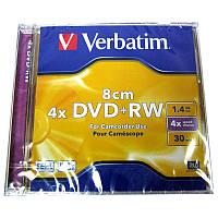Диск    mini DVD+RW     VERBATIM 1,4Gb/30min 4x Jewel box
