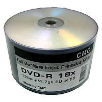 Диск CMC  4,7Gb - 16x  (bulk 50)   DVD-R Full Printable Silver(Ritek)