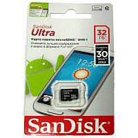 Карта памяти   micro-SDHC32Gb SanDisk Class10 Ultra 48Mb/s+SD
