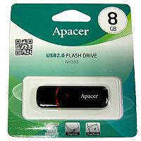 Флешка   8Gb Apacer AH333 Black(Акция!!!)