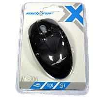 Компьютерная мышка Maxxtro Mc-206  черная,USB