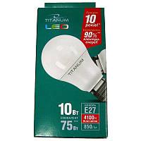 Лампочка  светодиодная Titanium A60 10W E27 4100K (Супер цена!!!)