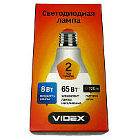 Лампочка  светодиодная Videx A60e  8W E27 4100K (VL-A60e-08274)
