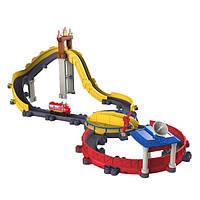 """Детский игровой набор для мальчика """"Огненный путь с паровозиком Вилсон"""" Chuggington, серия Motorized"""