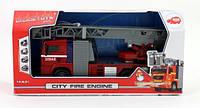 Игрушечная Пожарная машина Город свет звук 31см Dikie Toys  брызгает водой