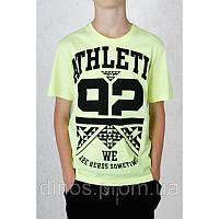 Футболка подростковая для мальчика 163-40B-36-302 Жёлтая