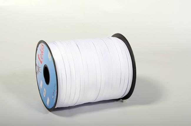 Резинка 6mm Flat Elastic / Strong / 100m / White, фото 2