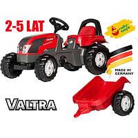 Детский Трактор педальный с прицепом Rolly toys Kid Valtra 012527