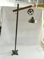 Светильник напольный SH-2043, Железный, винтажный индустриальный дизайн. Цвет зелёный. Ручная работа. Сделано