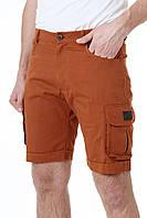 Шорты весенние, летние, мужские молодежные, классические, оранжевые