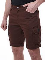 Шорты весенние, летние, мужские молодежные, классические, коричневые