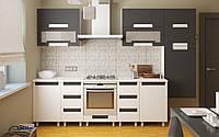 Кухонный не дорогой, стильный комплект для малогабаритных квартир по доступной цене длинной 2,2 м и 2,6 м Лара