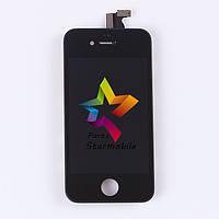 Дисплей для мобильного телефона iPhone 4s, черный, с тачскрином AAA