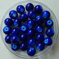 Бусины керамические синие 8мм