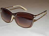 Солнцезащитные очки GUCCI коричнево - бежевая оправа 751069