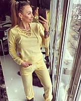 Спортивный костюм пряжа желтый  12467
