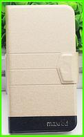 Чехол-книжка MAXRED для смартфона Leagoo m8 (бежевый)