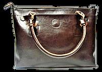Сумка женская коричневая кожаная стильная SRH-476533