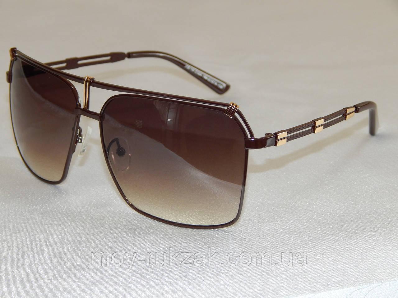 Langtemeng очки солнцезащитные коричневые 770128