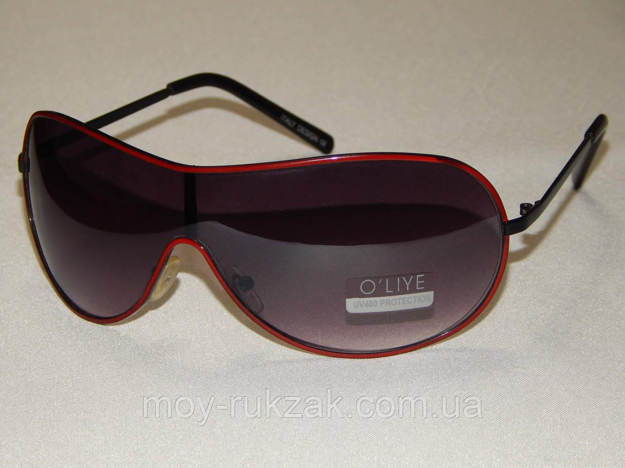 Солнцезащитные очки, маска, красная оправа 790126