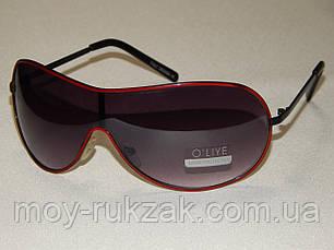 Солнцезащитные очки, маска, красная оправа 790126, фото 2