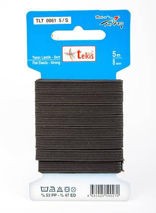 8 mm Flat Elastic / Strong / 5 m / Black, фото 2