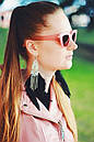 Очки солнцезащитные кошечки розовая оправа, фото 2