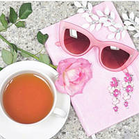 Очки солнцезащитные кошечки розовая оправа, фото 1