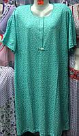 Женская котоновая ночная  рубашка батал D49 (р.5XL,6XL,7XL) купить оптом