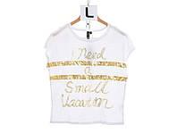 Женская футболка с золотой надписью