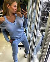 Костюм спортивный АУРА голубой 12473
