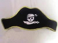 Пиратская шляпа треуголка фетровая